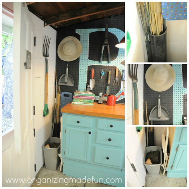 Perfectly Organized What Organizing Made Fun: Organizing The Shed And Potting Bench