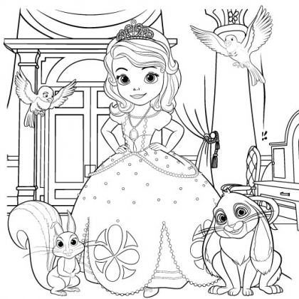 Principessa Sofia Da Disegnare E Colorare Disney Junior