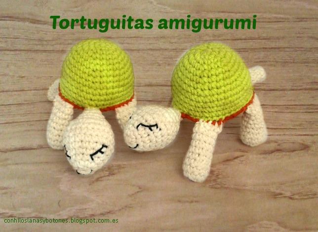 conhiloslanasybotones - tortuga amigurumi