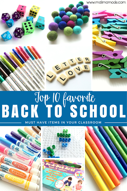 Malimo Mode - Top 10 Favorite Back To School Finds! Great tips from markers to center equipment - especially #7 and #9!