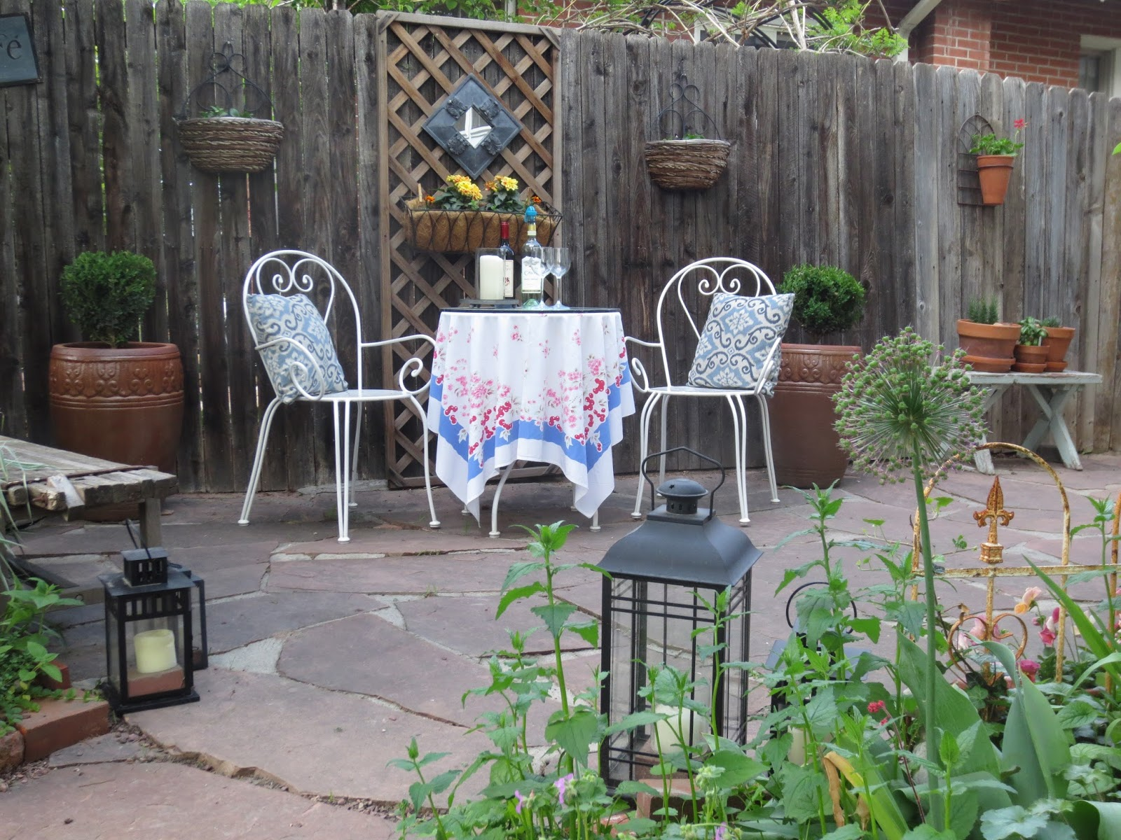Bringing French Country Home Patio Reveal