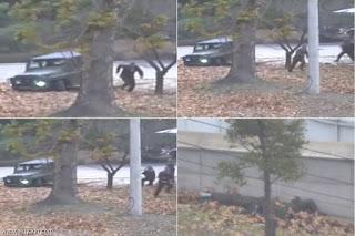 بالفيديو : فرار جندى كورى شمالى الى كوريا الجنوبيه