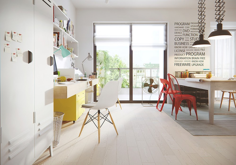 office-space-yellow-cabinet-outdoor-space