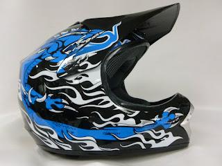 Motorcycle helmet kids wulfsport