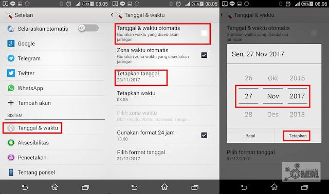 atur tanggal dan waktu ke hari sebelumnya - trik rahasia menghapus pesan terkirim whatsapp tanpa batas 7 menit - sharehovel