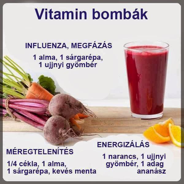 Vitamin bombák (Influenza,megfázás,méregtelenítés,energizálás)