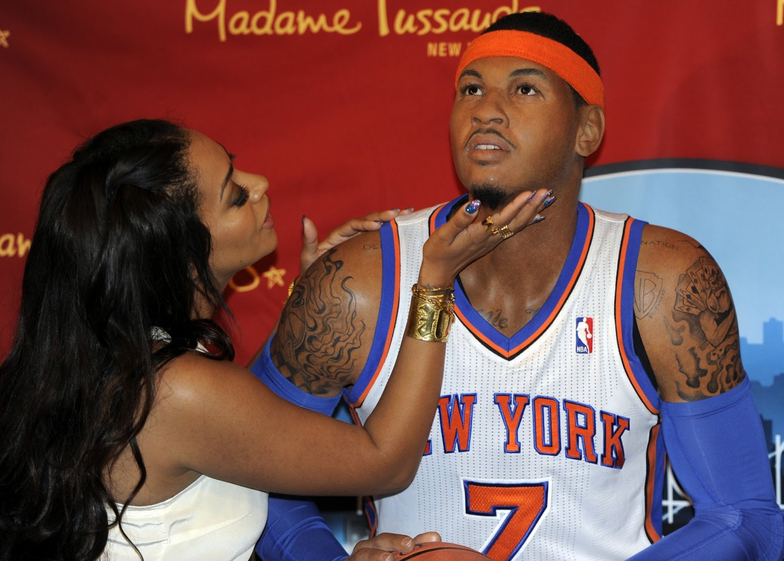 Carmelo Anthony with Wife