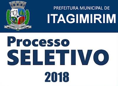 Saiu Edital Processo seletivo Prefeitura de Itagimirim 2018: com 80 vagas