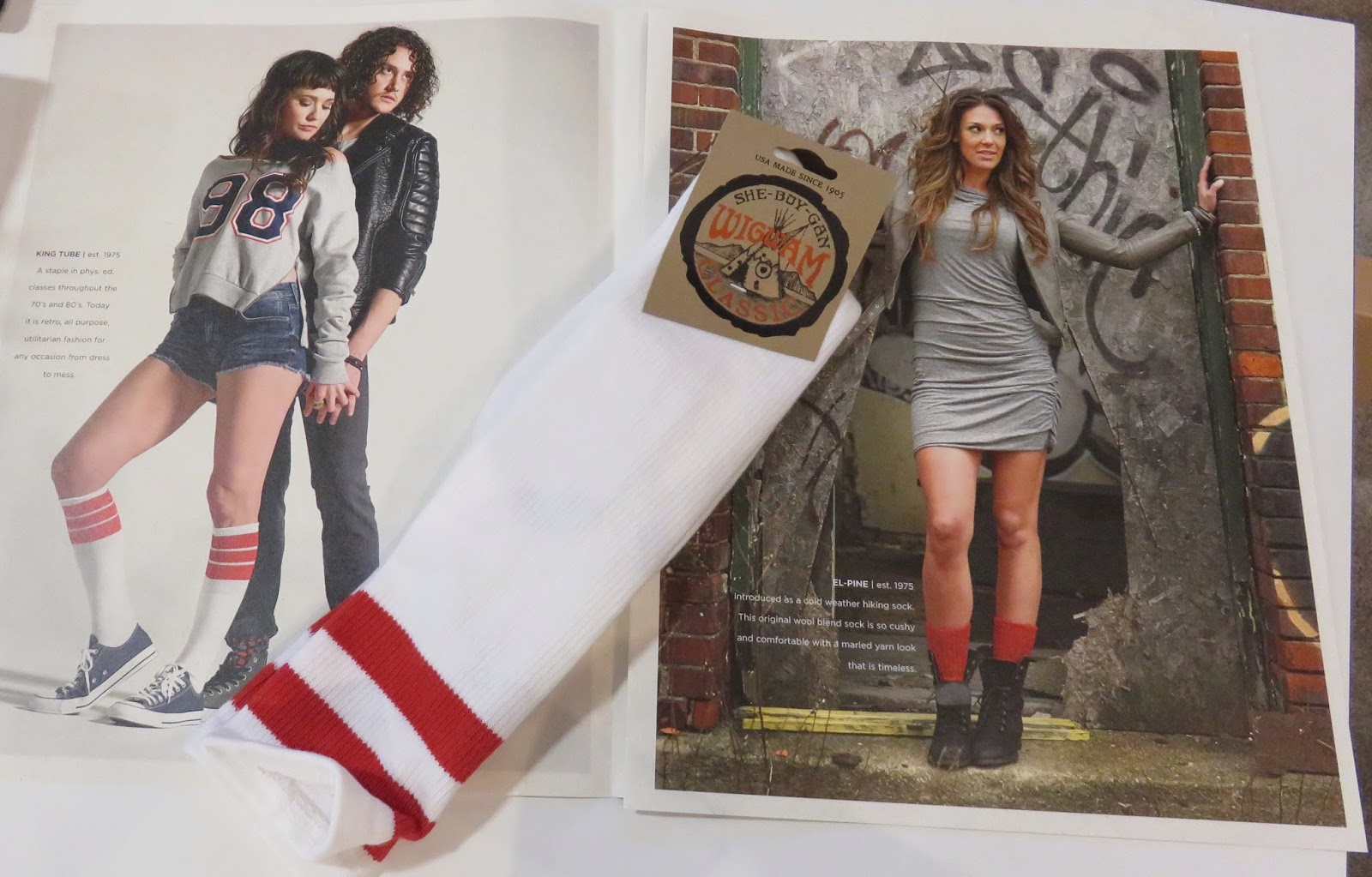 a3689697f Made in the USA -Wigwam socks...leverages its heritage for the still in or  just outta school humans with Classic tube socks and an an campaign that ...