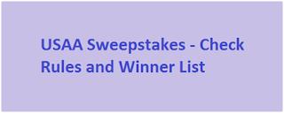 www.usaa.com Sweepstakes 2019