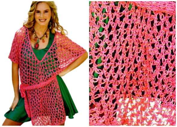 túnica crochet, punto salomón, patrones ganchillo