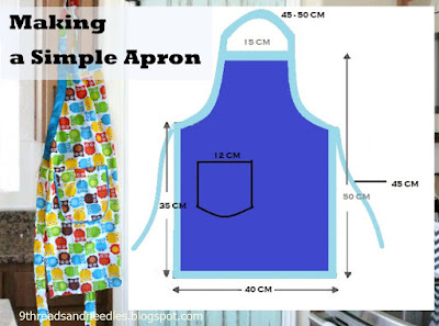 making a simple apron
