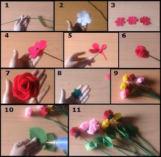 Tutorial Bunga Mawar Flanel yang Indah Versi Baru