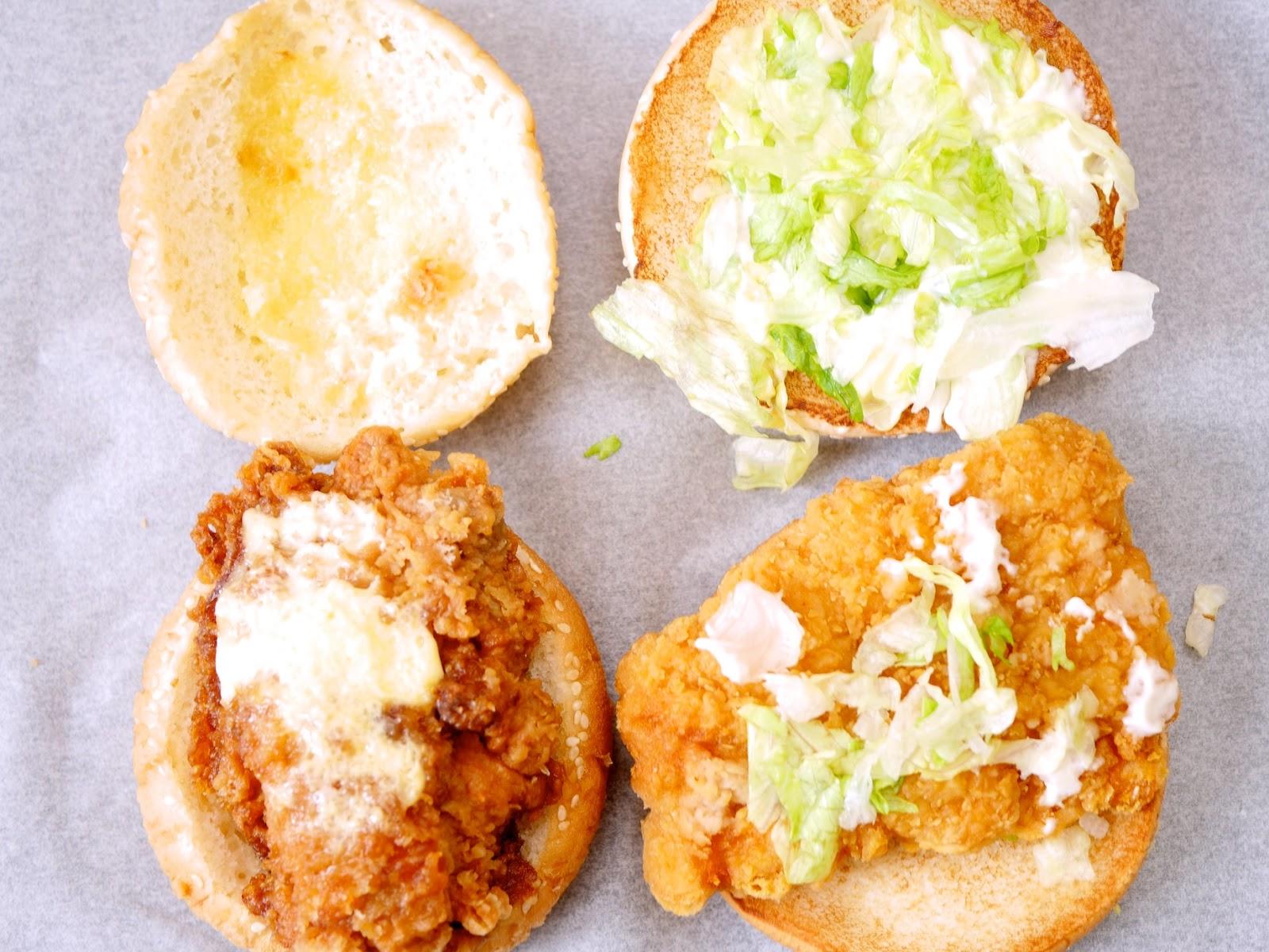 7-11 勁辣雞腿堡 vs 麥當勞勁辣雞腿堡