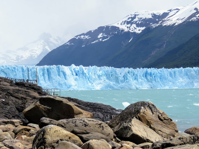 Perito Moreno Glacier viewed from below near El Calafate Argentina