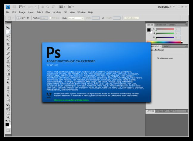 Giao diện Photoshop CS4 Extend Portable