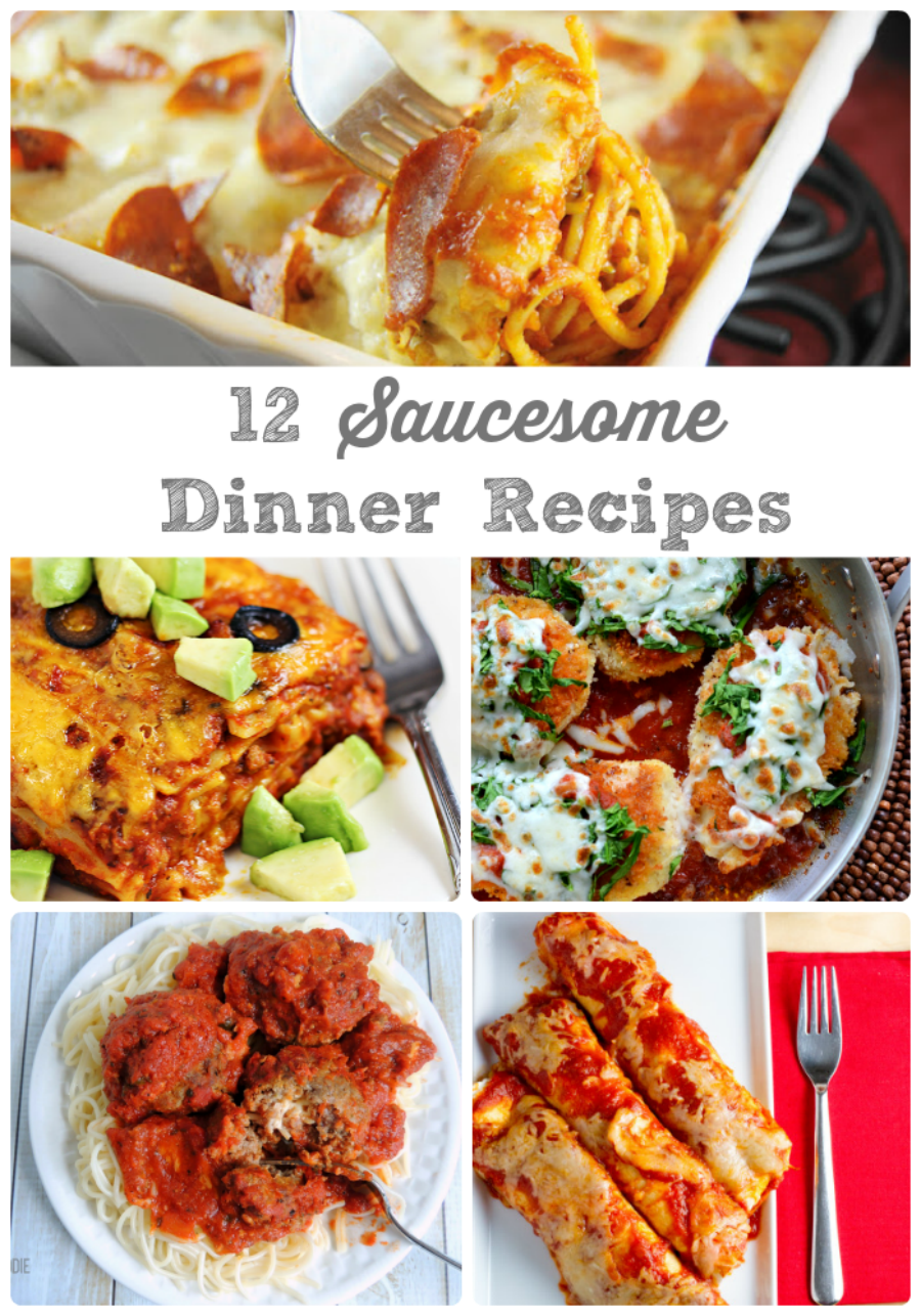 Need quick #Saucesome weeknight dinner ideas? Try these 12 recipes using your favorite jarred pasta sauce! #ad