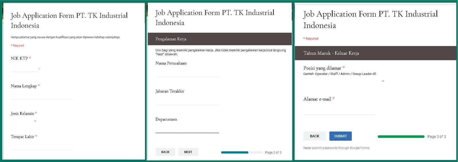 Cara Melamar Ke Pt Tk Industrial Indonesia Taekwang