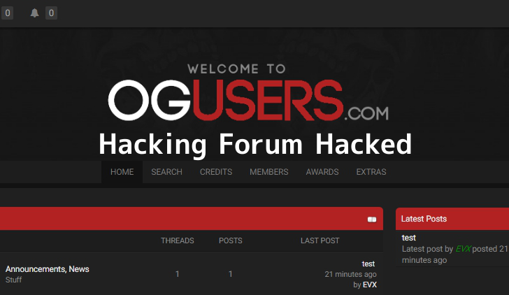 OGusers Hacked – A Hacking Forum Where Hackers Involved in Hijacking Online Accounts Itself Hacked