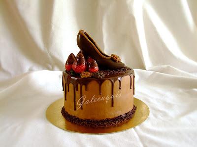 zapato de chocolate con molde
