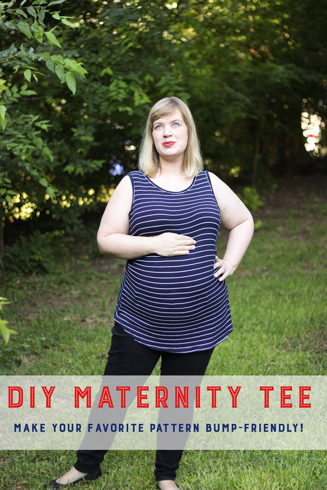 e0a56451ef2c8 Cashmerette Concord Tee: Maternity Pattern Hacks | Idle Fancy ...