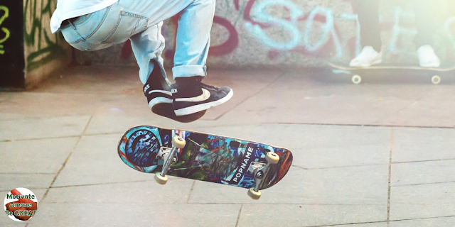 "Featured in the article: ""5 Life Lessons For A Teenage Son"". Adjust and move on, teenager skateboarding."