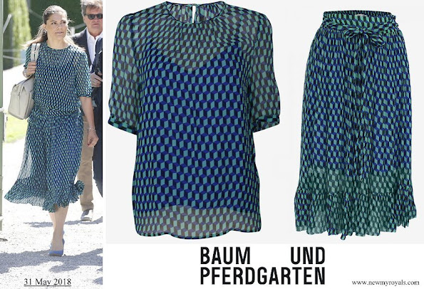 Crown Princess Victora wore Baum und Pferdgarten Milena Blouse and Selda Skirt
