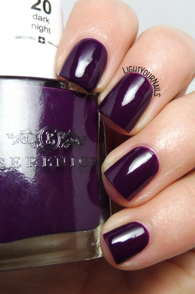 Smalto viola Berenice 20 Dark Night purple nail polish #unghie #nails #berenicebeauty #lightyournails