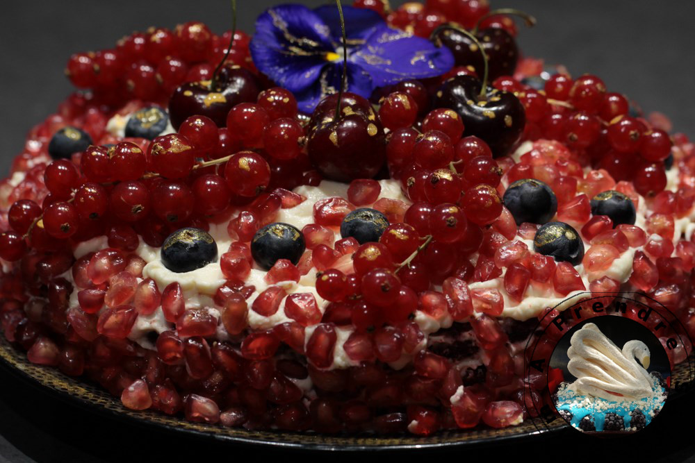 Gâteau red velvet à la grenade