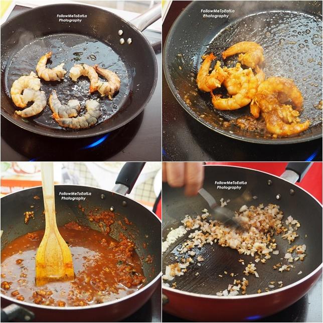 Preparation Of The Tom Yam & Tomato Base Sauce