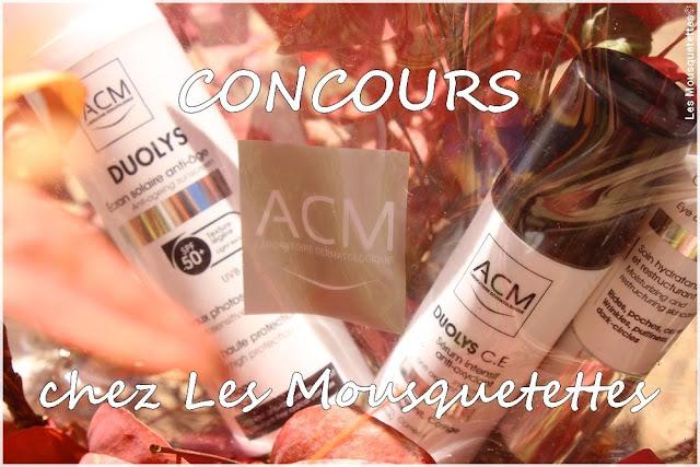 Concours Laboratoires ACM - Blog beauté Les Mousquetettes©
