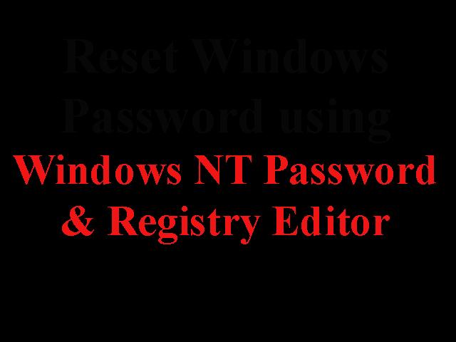 offline nt password & registry editor download
