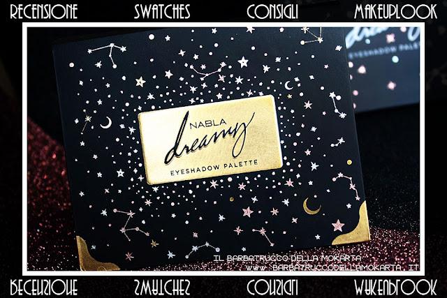 dreamy eyeshadow palette cartone nabla cosmetics ombretti