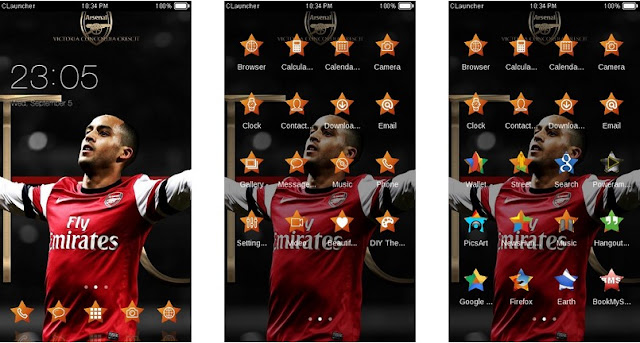 Download Tema Arsenal untuk Hp Android Apk - Theo Wallcot