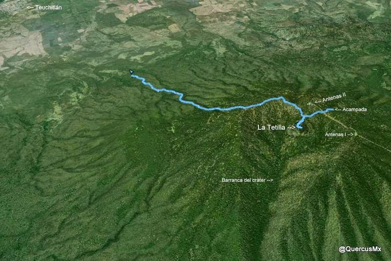 Ruta parcial La Tetilla - Teuchitlán