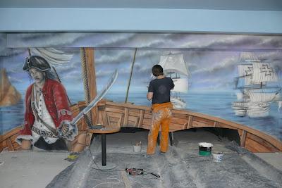 Malowanie obrazów na ścianie, murale 3D, malowidła ścienne malowane na ścianie
