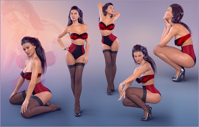 Z Ladylike - Poses for Genesis 3 Female