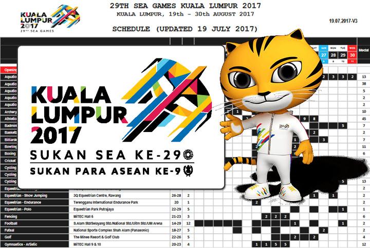 Kuala Lumpur SEA Games Sports Schedule