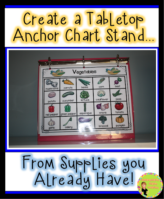 DIY Tabletop Chart Stand