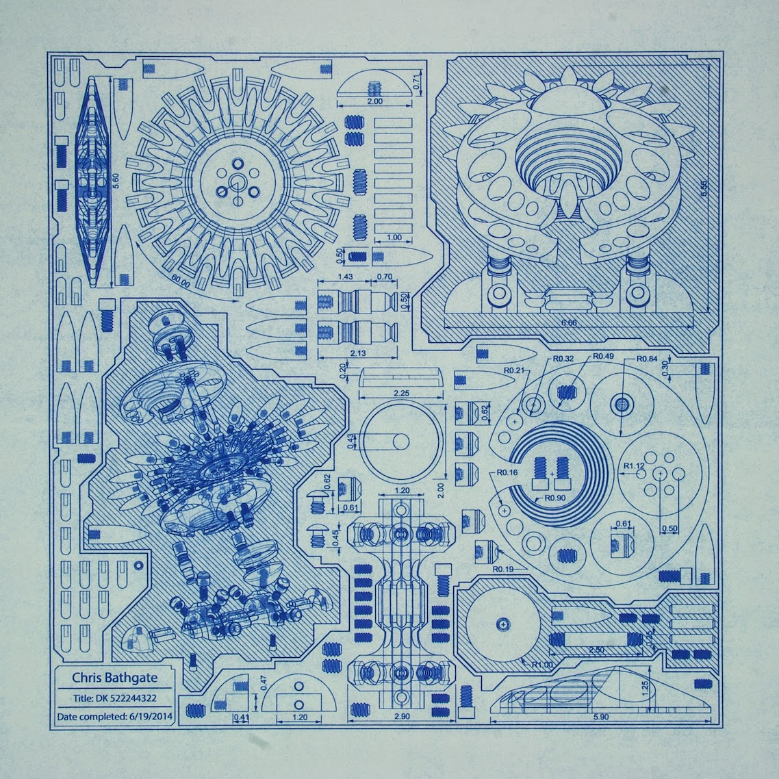 Technical Blueprint, art schematic