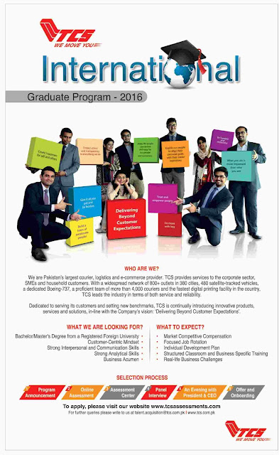 TCS International Graduate Training Program 2016