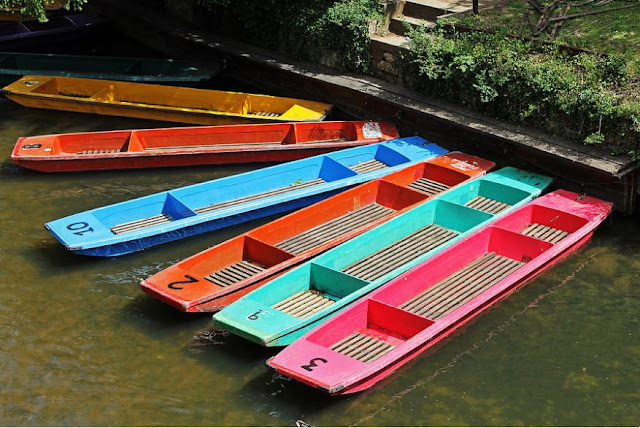Wall Art of Punts in Oxford