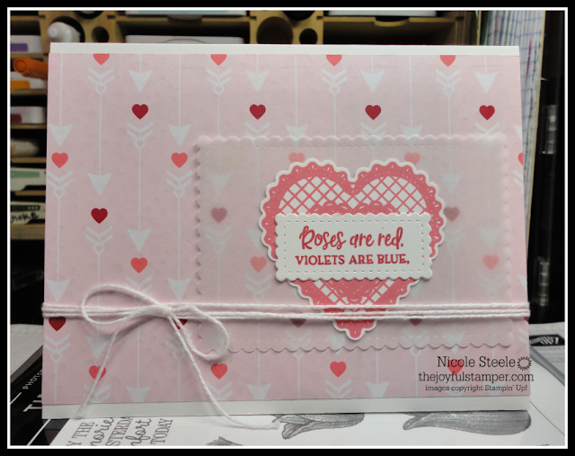 Valentine's Day card using Stampin' Up!'s From My Heart product suite | Nicole Steele The Joyful Stamper