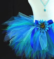 designer short blue tutu