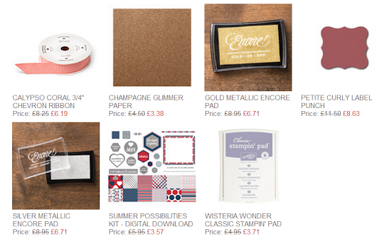 This Weeks WEEKLY DEALS from Stampin' Up!