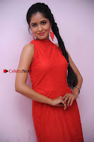 Kannada Actress Chaitra in Red Dress at Damki Damar Movie Audio Release  0004.jpg
