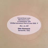 Photo sticker on bottom of Ohio Stoneware crock. https://trimazing.com/