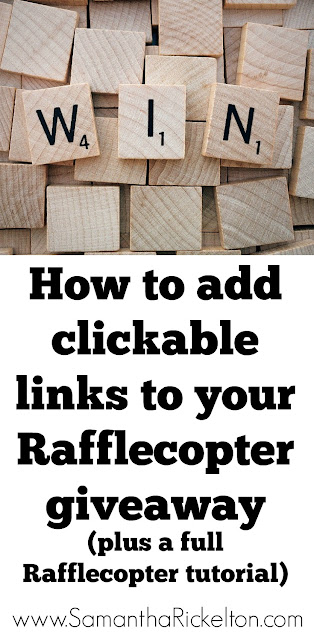 How to run a successful giveaway with Rafflecopter (including how to add clickable links)