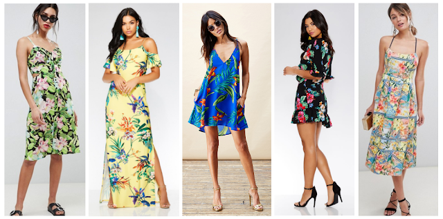 Top 5 Dress Trends Summer 2018 - Tropical Print Dresses