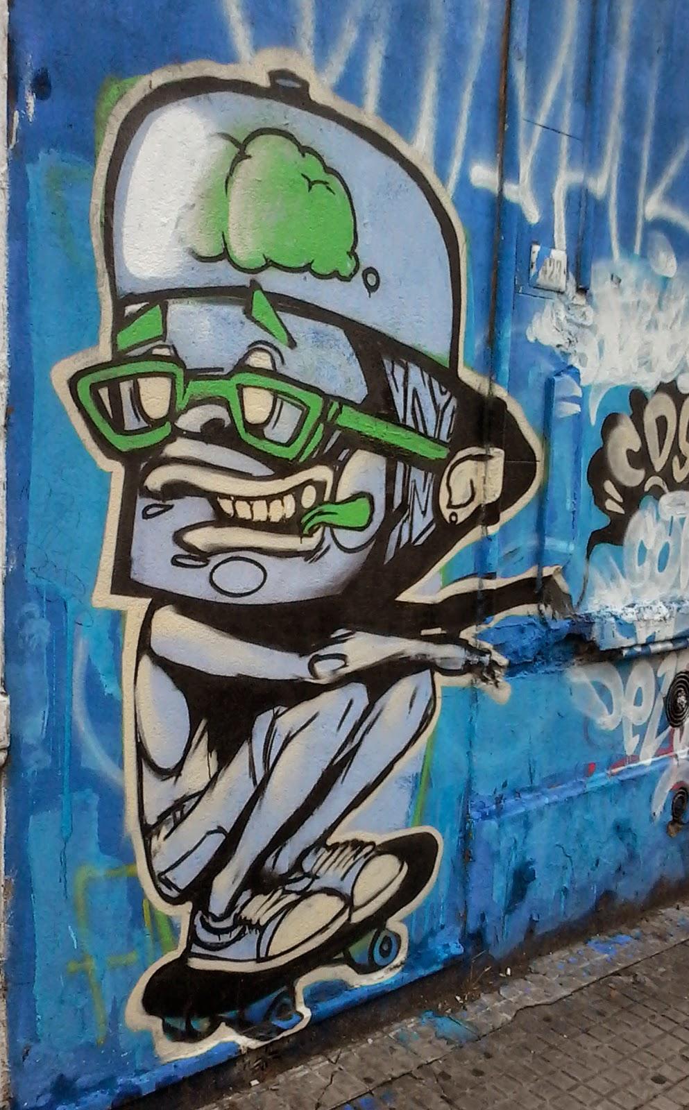 Arte Callejero. Calle Barrios Amorin. Montevideo. Uruguay.